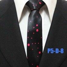 Высокая мода горошек Галстуки тонкий узкий Средства ухода за кожей Шеи Галстуки черный с красными точками мужские Средства ухода за кожей шеи галстук