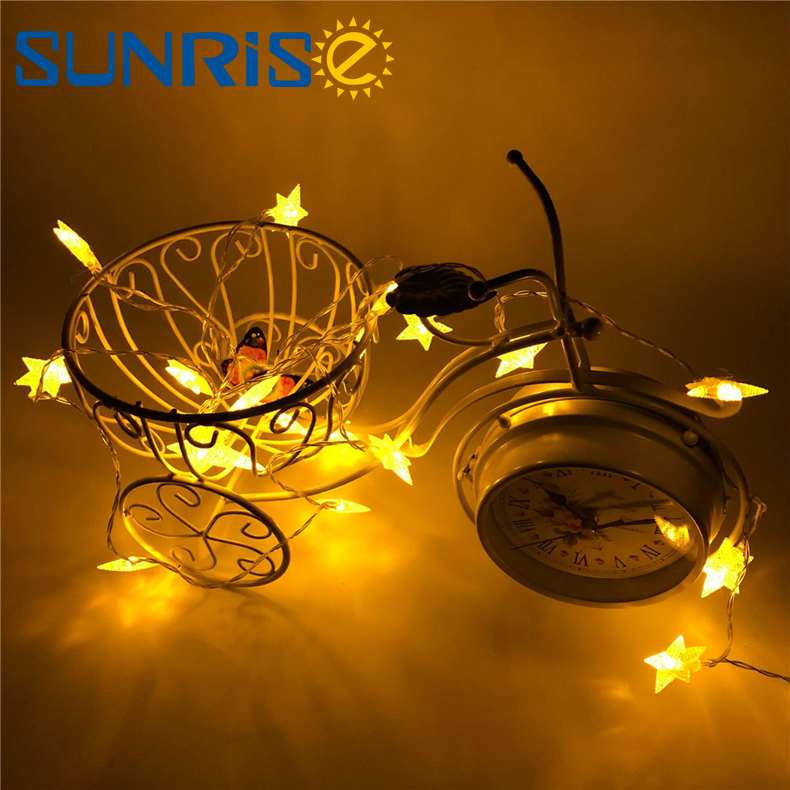Festival Wedding Party 7 Colors led Waterproof Starry Rope Home Party Battery Powered 3M 6M string lights