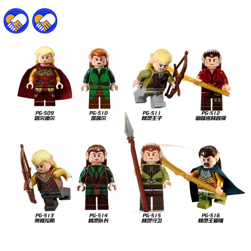 A toy A dream 8pcs The Hobbits Lord of the Rings Knight Figures Model Assemble Model DIY Building Blocks Sets Kids Toys Gift a suit of vintage artificial gem water drop necklace and earrings for women