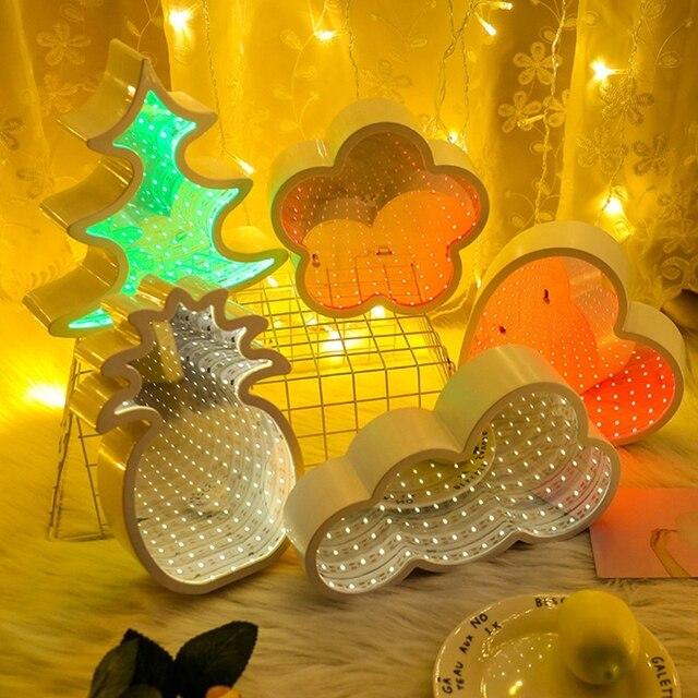 Hot Sale Creative LED 3D Night Light Child Room Bedside Lamp Decoration New Tunnel Night Light