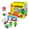 Free Shipping 3 Different Models 625 Pcs Building Blocks Mini Figure DIY Self-Locking Bricks Learn Education Best Tools For Kids