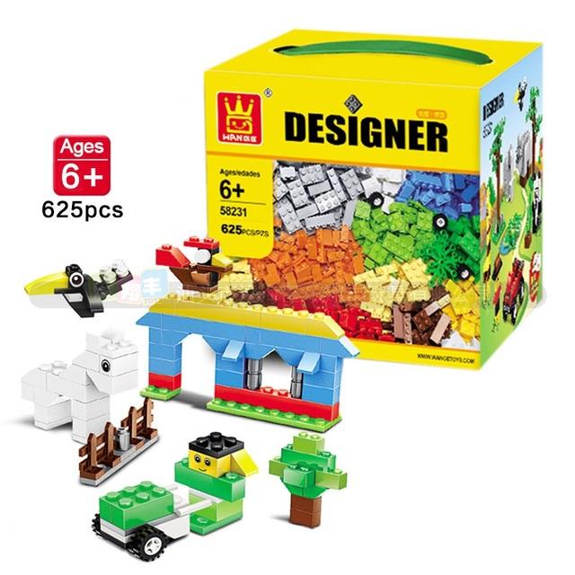 O Envio gratuito de 3 Modelos de Diferentes 625 Pcs Blocos de Construção de Mini Figura DIY Bricks Auto-Bloqueio Aprender Educação Melhores Ferramentas para As Crianças