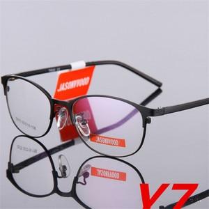 Image 2 - Woman Full Frame glasses Fashion Eyeglasses Super Light Casual Optical Frame Metal Material Prescription glasses 075