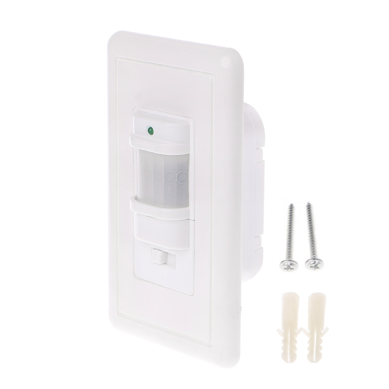110V AC Auto On/Off Infrared PIR Occupancy Vacancy Motion Sensor Light Lamp Switch White Infrared Sensor Light Switch