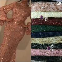 Fashion Embroidered African net Laces Fabrics With Sequins High Quality Nigerian lace fabric For France lace party