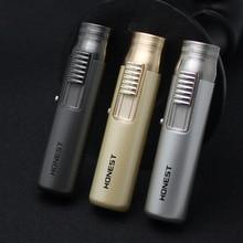 Metal Compact Jet Butane Lighter Metal Pen Torch Turbo 1300 C Fire Windproof Lighter Cigar Pipe Cigarette Accessories No Gas все цены
