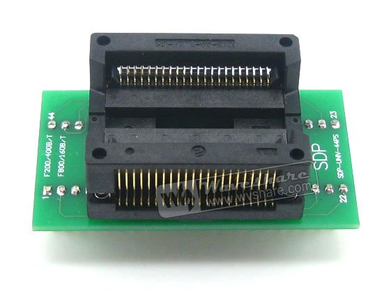 Waveshare SOP44 TO DIP44 Enplas IC Programmer Adapter Test Burn-in Socket 1.27mm Pitchfor SOP44 SO44 SOIC44 Package цена