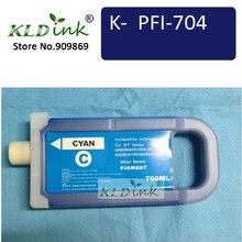 Kldink-PFI-706C Голубой картридж(PFI-704 6682B001 чернил) Совместимость с imagePROGRAF iPF8300, iPF8400S, iPF9400