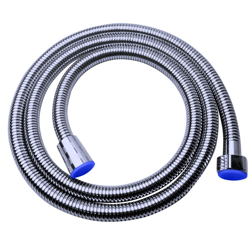 Stainless Steel 1.5m Shower Hose Soft Shower Pipe Flexible Bathroom Water Pipe Silver Color Common Plumbing Hoses