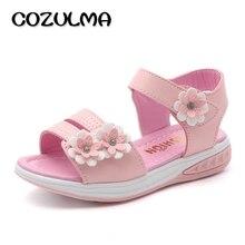 COZULMA Gadis Bunga Sandal Anak Sandal Pantai Sepatu Musim Panas Gaya Anak-anak Sandal Slip-tahan Gadis Putri Sepatu Romawi