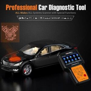 Image 3 - FOXWELL NT644 Pro Automotive OBD 2 skaner resetowanie światła oleju ABS SRS DPF EPB SAS BRT TPS TPMS pełny System samochodowy system OBD narzędzie diagnostyczne