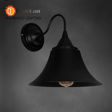 Черный Железный Искусства Старинные Бра Современный Одного Черного Листового Железа Свет Фойе Лампа Бесплатная Доставка