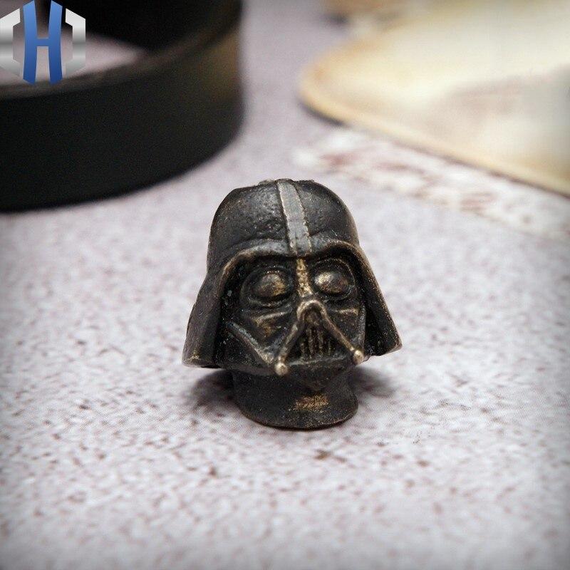 Star Wars Storm Black Warrior Head Carving Knife Umbrella Rope Flashlight EDC Handmade DIY Knife Beads Knives     - title=
