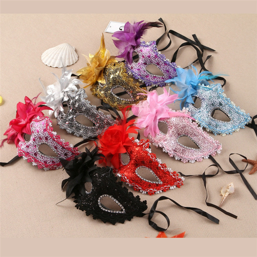 New Sexy Masquerade Lace Party Mask 1PC Women Lace Eye Face Mask Masquerade Party Ball Prom Costume Charms Party Masks 30