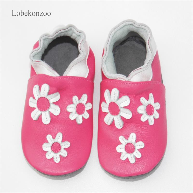 Image 5 - Lobekonzoo  hot sell baby girl shoes  Guaranteed 100% soft soled Genuine Leather baby First walkers   infant shoes Free shippingFirst Walkers   -