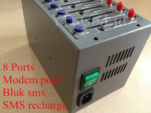 Cheapest Wavecom q2303 Simbox modem pool 8 port gsm sms modem