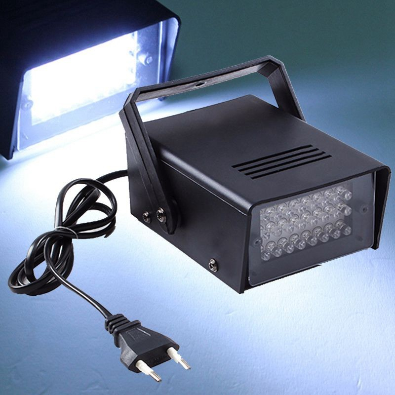 3w 24 led stage lights operated dj strobe lights disco party club ktv stroboscope white stage cheap lighting effects