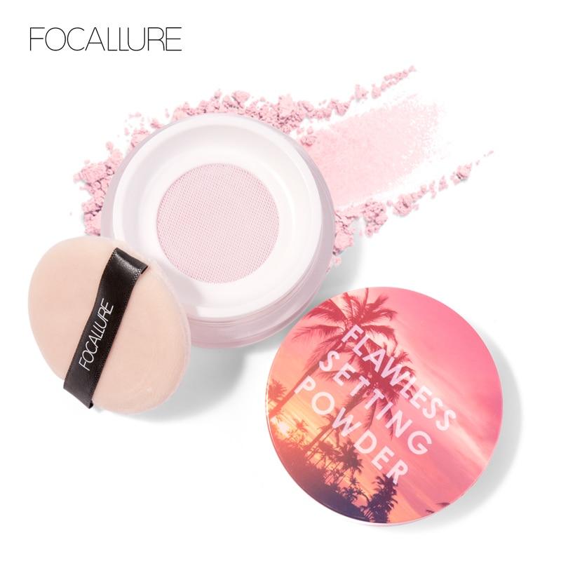 FOCALLURE 2019 Brighten Natural Setting Powder Light Fine Powder Not Clog Pores Silky Soft Smooth Velvet Face Make Up