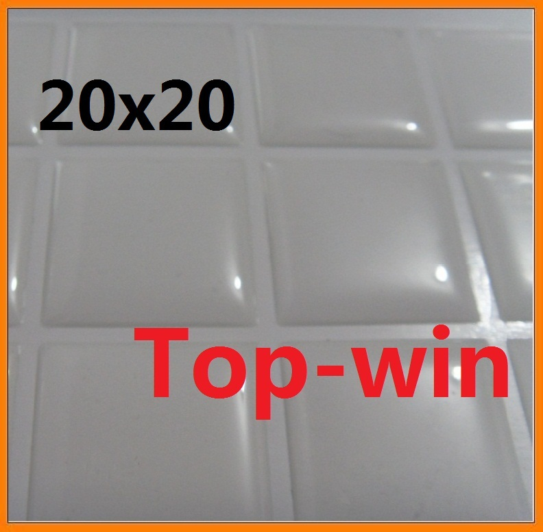 Rectangle Epoxy Stickers Free Shipping Dots Square Resin Domes