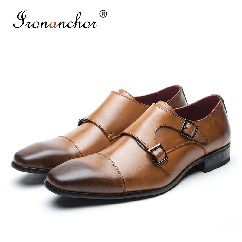 Genuine cow Leather Men dress shoes gents high quality luxury designer elegant classic male formal shoes