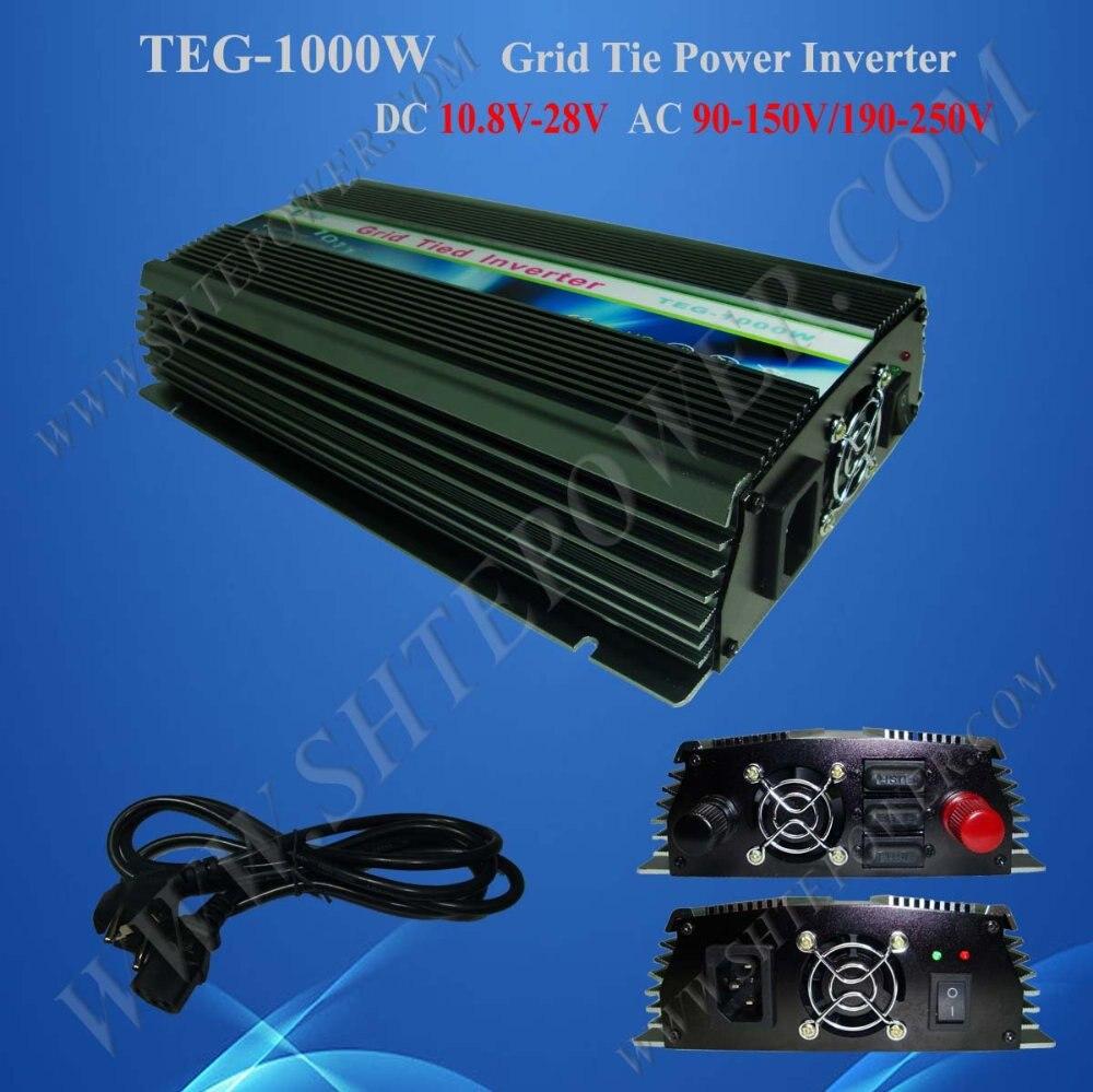 1KW Мощность инвертор для Панели солнечные на сетке Системы, DC 10,8 V-28 V дo AC 90 V-150 V, мы предоставляем один год гарантийного срока и высокое качество