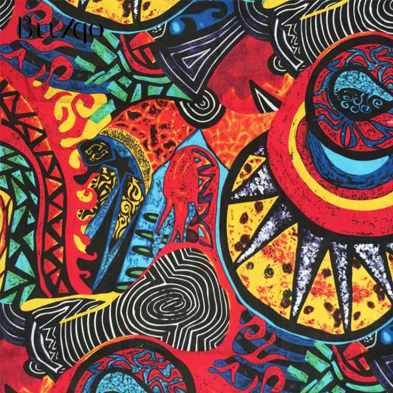 Buulqo wydrukowano retro bawełniane i lniane tkanina metrowa w stylu Vintage w stylu Folk bawełna tkanina do szycia rzemiosło materiał