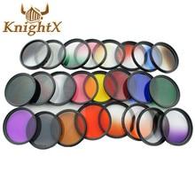 KnightX Color Lens graduated uv Filter Red ND For Canon nikon d3200 d3300 d5500 d5300 1200D 750D 700D Camera 52MM 58MM 52 58 mm