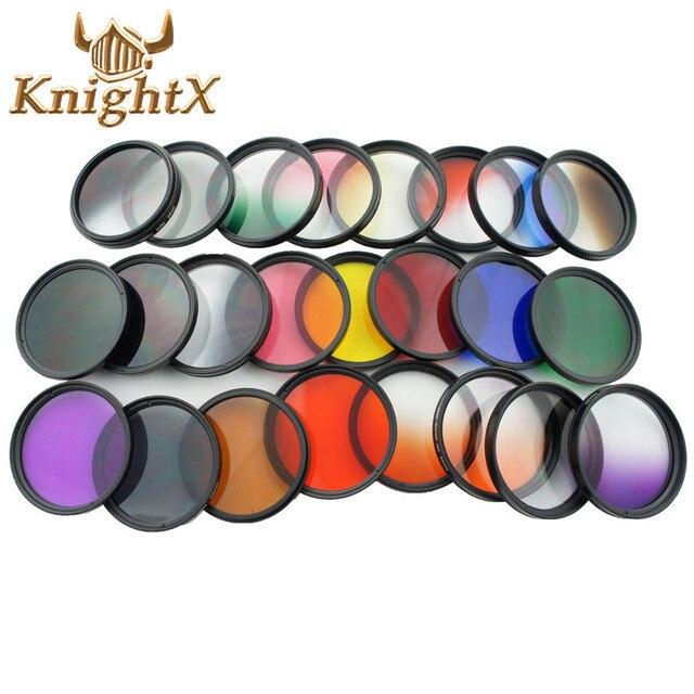 KnightX Màu Ống Kính tốt nghiệp uv Lọc Red ND Cho Canon nikon d3200 d3300 d5500 d5300 1200D 750D 700D Máy Ảnh 52 mét 58 mét 52 58 mét
