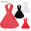 Vestidos retro dress marca marilyn monroe estilo mujeres polka dot dress 50 s 60 s traje retro vintage vestido de rockabilly dress vestid