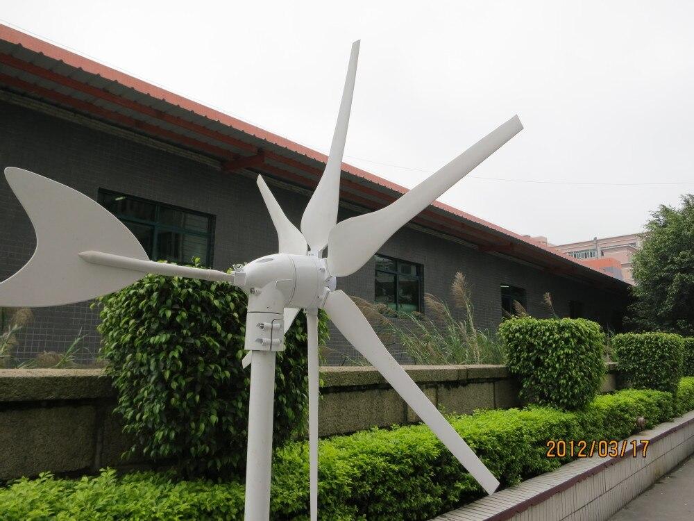 Générateur de vent 300 w DC 12 V/24 V 6 pales éolienne générateur moulin à vent pleine puissance, haute qualité, CE, ROHS, ISO9001 - 3