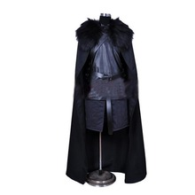 game of thrones costume jon snow costume outfit with coat halloween costume for men cosplay