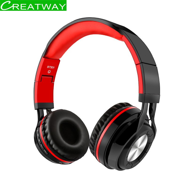 Bluetooth 4.2 Earphone Wireless Bluetooth Headset With Mic Noise Cancelling Headphone Stereo HIFI Bass Long Battery Life awei a950bl bluetooth headphone noise cancelling wireless earphone cordless headset with microphone casque earpiece kulakl k