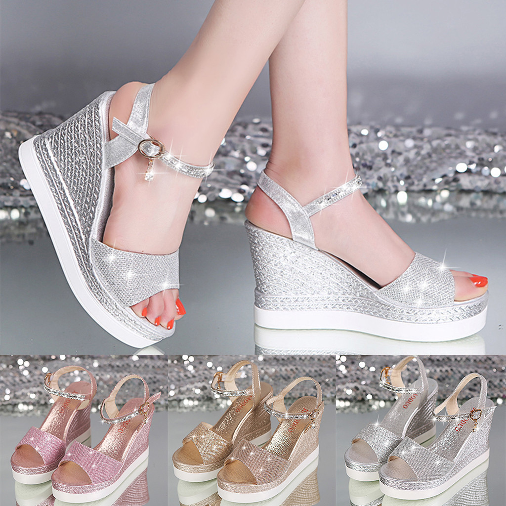 Platform wedge sandals for women,Youngh Summer Fish Mouth Slides Casual Peep Toe Beach Breathable Sandals