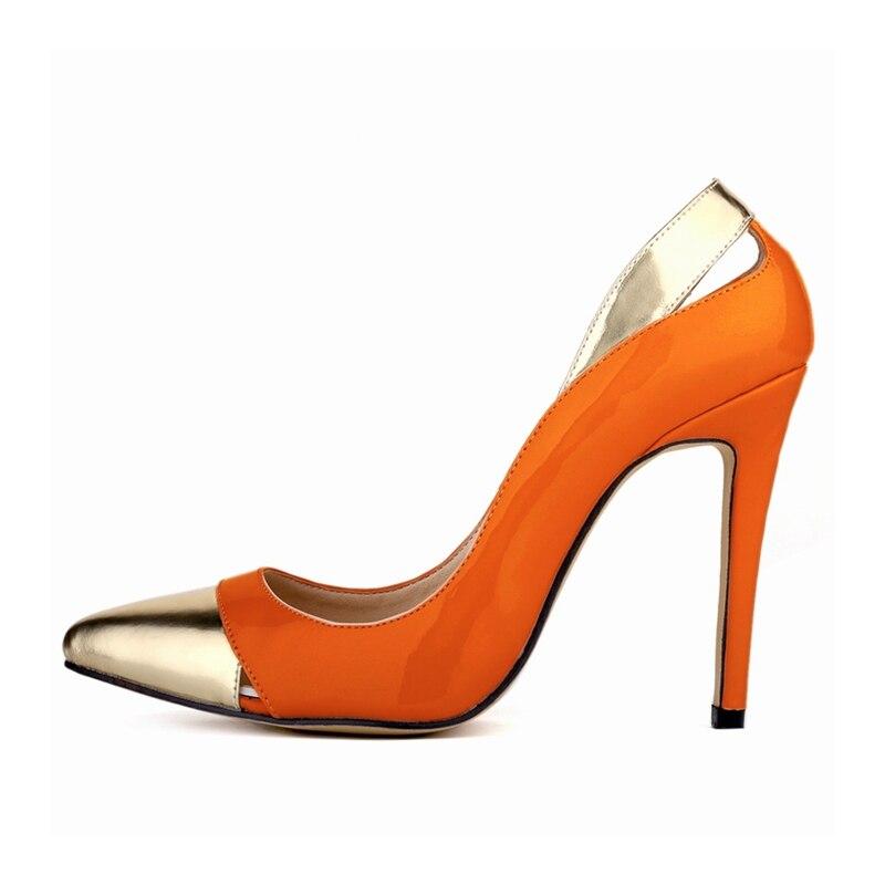 6 Blanc Nlk Sur c0090 5 8 Talons 9 2 Femmes Super 1 3 Parti Pompes Chaussures 10 Orange Noir Rouge De Haute 4 Concise Sexy Slip Point Toe 14 13 12 Pompe 7 Mariage 11 qIH7wHF
