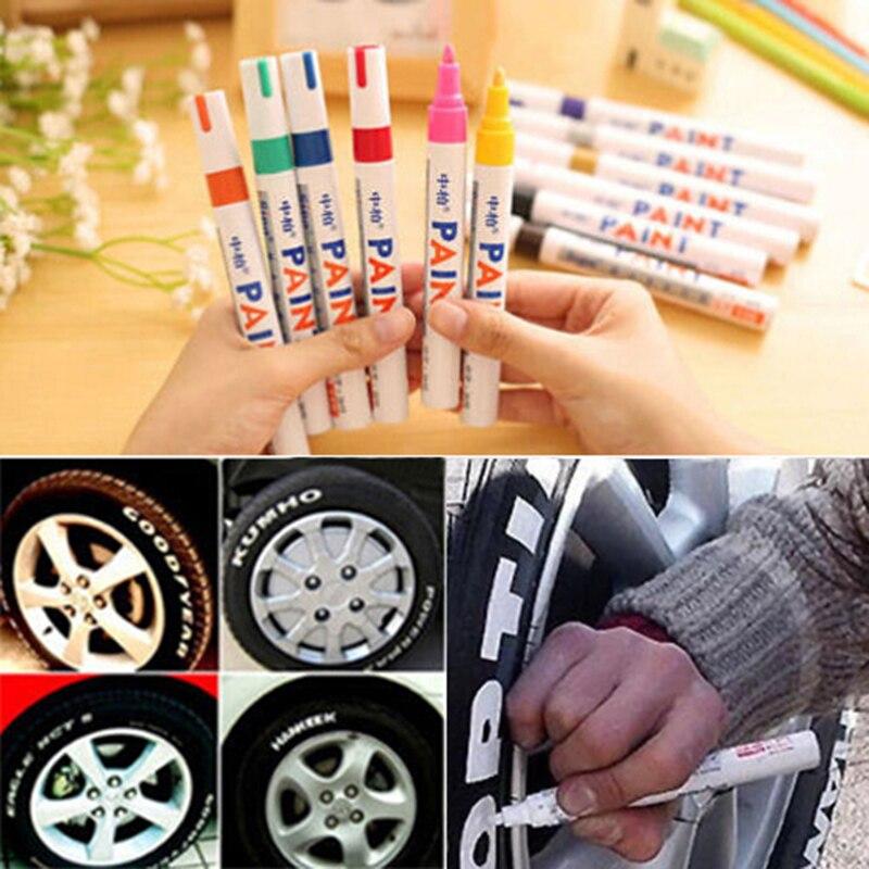 1 Stück 12 Farben Wasserdicht Auto Reifen Reifen Lauffläche Gummi Metall Permanent Farbe Marker Stift