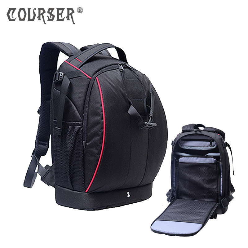 COURSERR Large capacity Anti-theft Nylon Camera Double Backpack Camera Bag Camera Case Outdoor Travel Bag High Quality safrotto high quality photographic outdoor travel waterproof large trolley case bag casual shockproof photo backpack