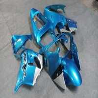 Custom motorcycle cowl for ZX 9R 2002 2003 ABS Fairings+Free bolts+light blue