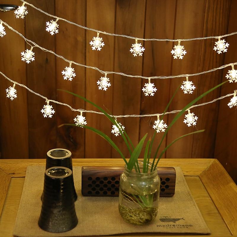 Xmas lights sneeuwvlok verlichting voor vakantie bruiloft 3M 10M - Vakantie verlichting - Foto 3