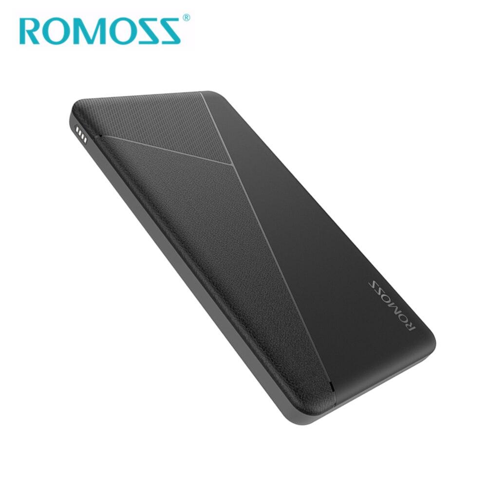 ROMOSS TORTA 10 Accumulatori e caricabatterie di riserva 10000 mah Portatile Esterno Li-polymer Battery Charger 2 Porta USB Per iPhone8 X XR XS Max Mobile Phone