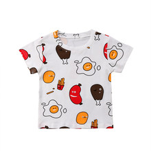 ecc9e03fa 2018 New Fashion Cute 1-6Y Baby Girl Boy Cartoon T-shirts Kids Short Sleeve  Cotton Comfort Eggs Print Tees Clothes Shirts