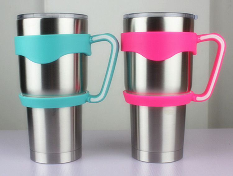 <font><b>New</b></font> Portable Hand Holder <font><b>Plastic</b></font> Multicolor Cups <font><b>Handle</b></font> <font><b>for</b></font> 30 Oz <font><b>YETI</b></font> <font><b>Rambler</b></font> <font><b>Tumbler</b></font> <font><b>Handle</b></font> Fit <font><b>For</b></font> <font><b>Yeti</b></font> Cup Mugs -<font><b>Handle</b></font> only