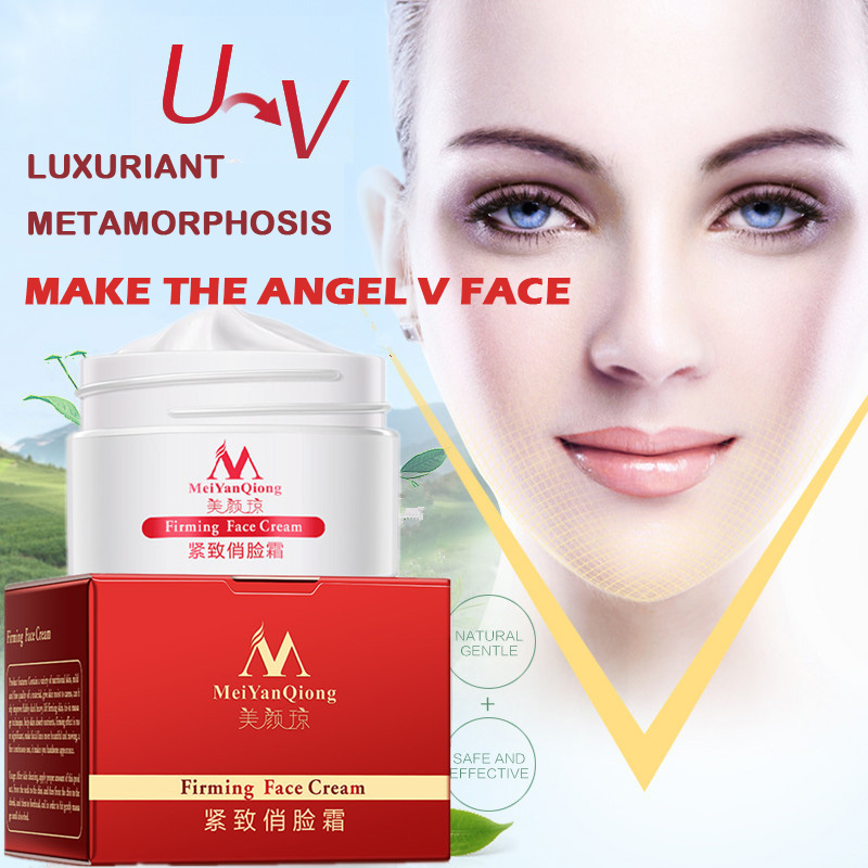 MeiYanQiong Firming Face Cream Moisturizing Whitening Face Care Anti-winkle Anti Aging V-Face Thin Face Cream