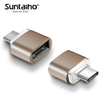 Suntaiho 2 Pack Type C Adapter USB C Male to USB Female Converter Type-c to USB for Samsung s9 Google Macbook Chromebook Oneplus