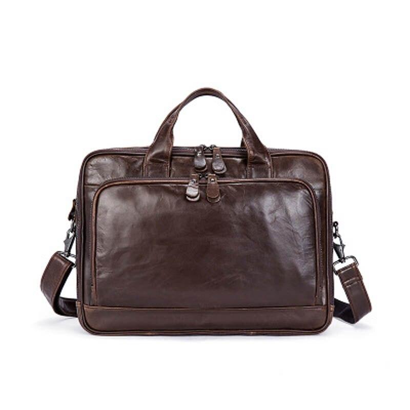 YISHEN Genuine Leather Casual Business Men Briefcase Multifunctional Male Handbags Shoulder Crossbody Bags Messenger Bag MLT8979