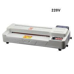 220V 600W A3 A4 zdjęcie dokument laminowanie papieru Film maszyna zimny/gorący Laminator 4 rolki Max szerokość 320mm 300W GD350-B1