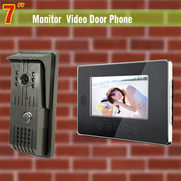 7 Inch Video Intercom System Video Doobell Wired Video Door Phone visual intercom doorbell  for Villa Home office homefong 10 home wired video door phone audio visual intercom entry system for villa dual way intercom support sd ip65 1v3