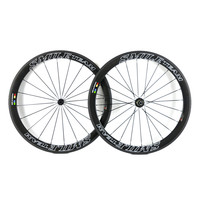 SmileTeam Full Carbon Road Bicycle Clincher Wheelset Chinese Factory Carbon Wheels Full Carbon 50mm Wheels With