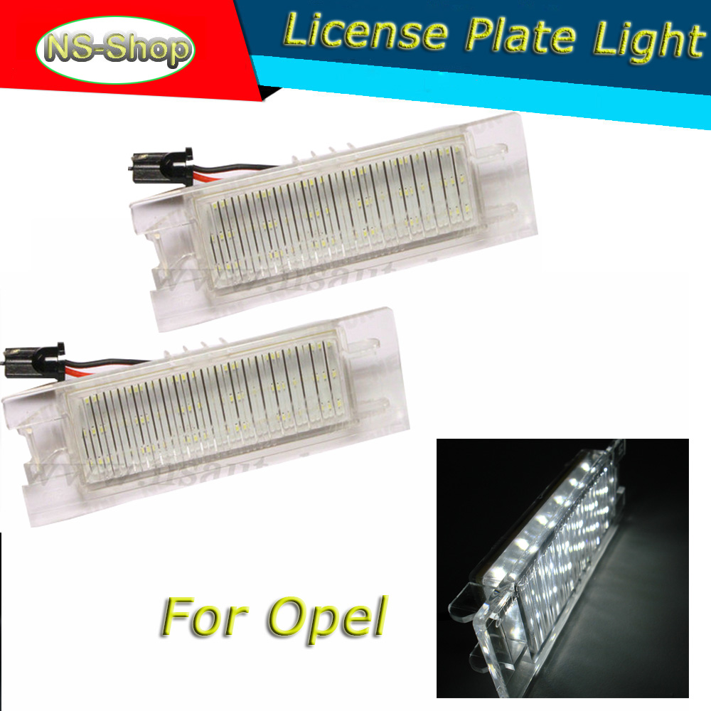 ultra bright OBC Error Free7000k xenon White 18 SMD LED License Plate Lights for OPEL Zafira B Astra H Corsa D Insignia