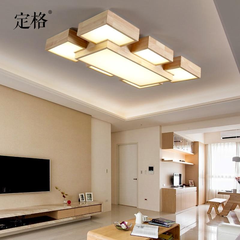 Nordic Einfache Log Rechteck LED Wohnzimmer Esszimmer Deckenleuchte Nicht  Stil Licht In Nordic Einfache Log Rechteck LED Wohnzimmer Esszimmer  Deckenleuchte ...