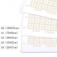 Laranja Calculado de Papel Gráfico Desenho De Grade De Papel Papéis A4 A3 A2 A1 A0